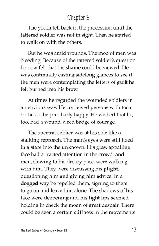 Book Preview For The Red Badge of Courage (Part 6) Page 13