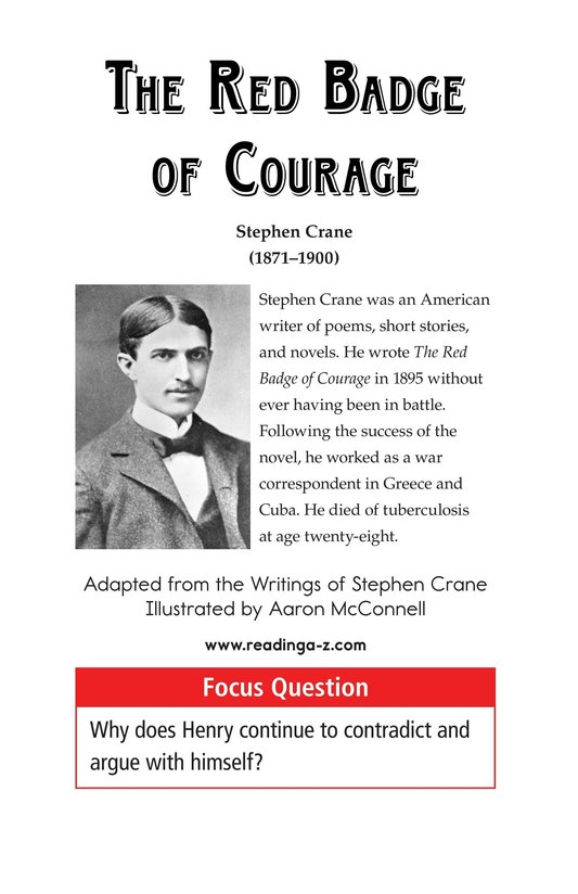 Book Preview For The Red Badge of Courage (Part 7) Page 1
