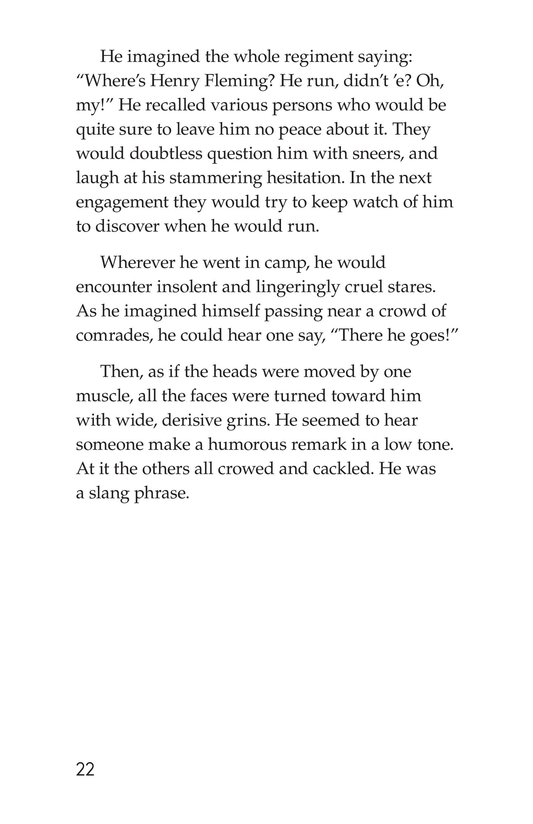 Book Preview For The Red Badge of Courage (Part 7) Page 22