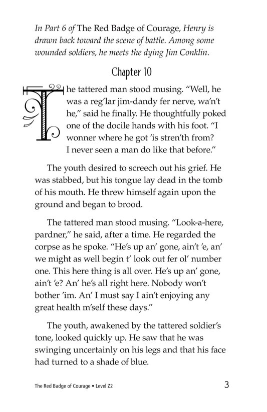 Book Preview For The Red Badge of Courage (Part 7) Page 3