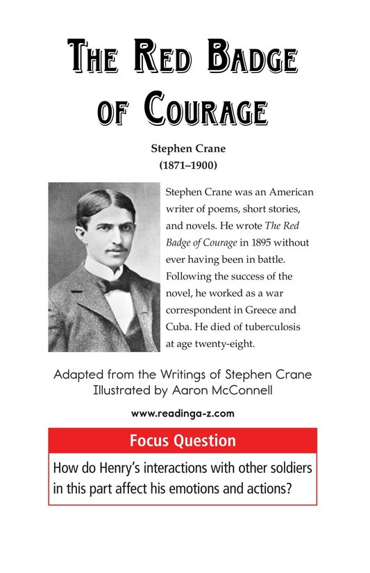 Book Preview For The Red Badge of Courage (Part 8) Page 1