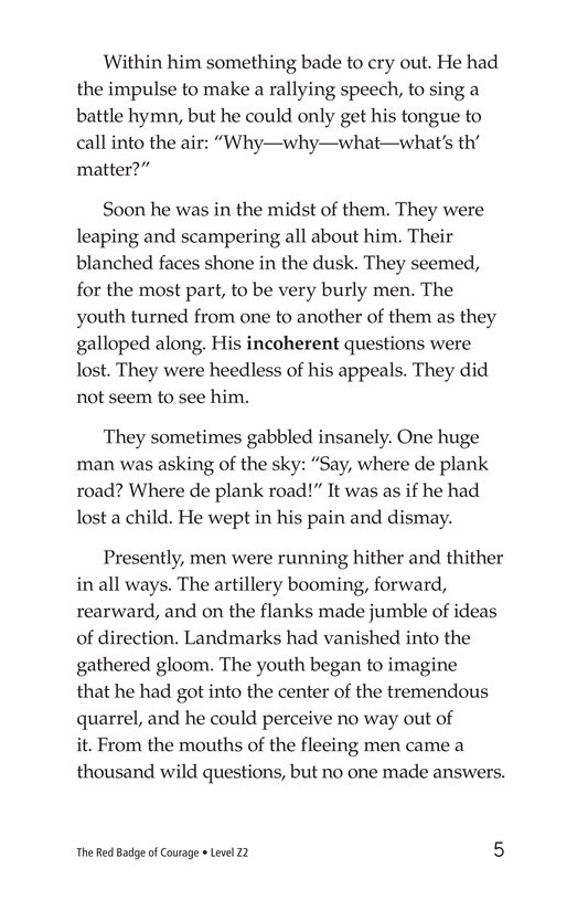 Book Preview For The Red Badge of Courage (Part 8) Page 5
