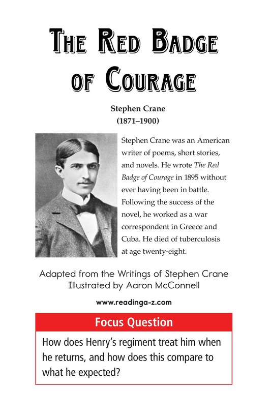Book Preview For The Red Badge of Courage (Part 9) Page 1