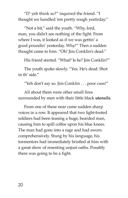 Book Preview For The Red Badge of Courage (Part 9) Page 20