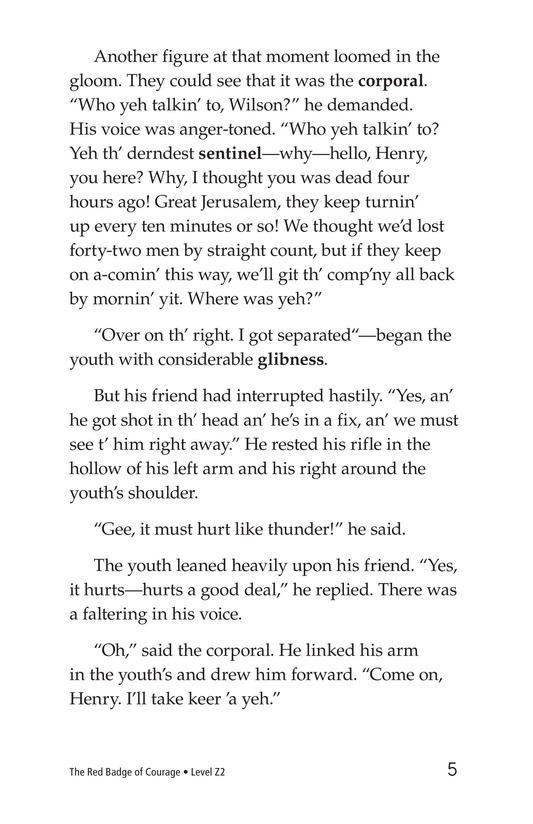 Book Preview For The Red Badge of Courage (Part 9) Page 5