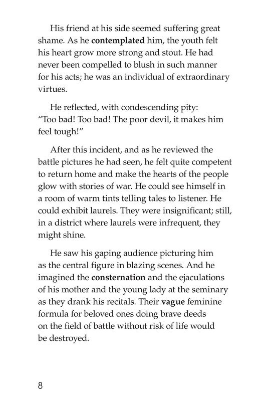 Book Preview For The Red Badge of Courage (Part 10) Page 8