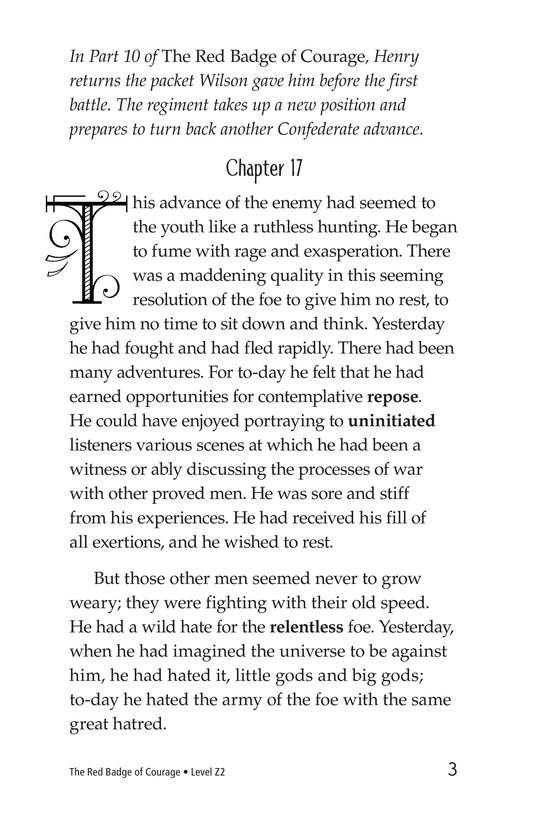 Book Preview For The Red Badge of Courage (Part 11) Page 3