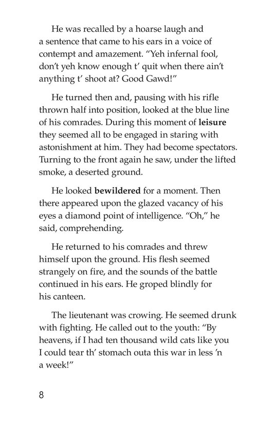 Book Preview For The Red Badge of Courage (Part 11) Page 8