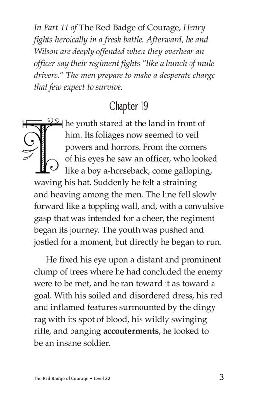 Book Preview For The Red Badge of Courage (Part 12) Page 3