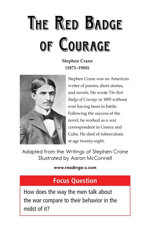 Book Preview For The Red Badge of Courage (Part 13) Page 1