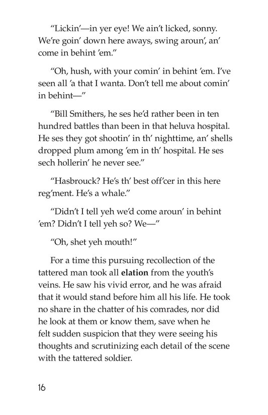 Book Preview For The Red Badge of Courage (Part 14) Page 16