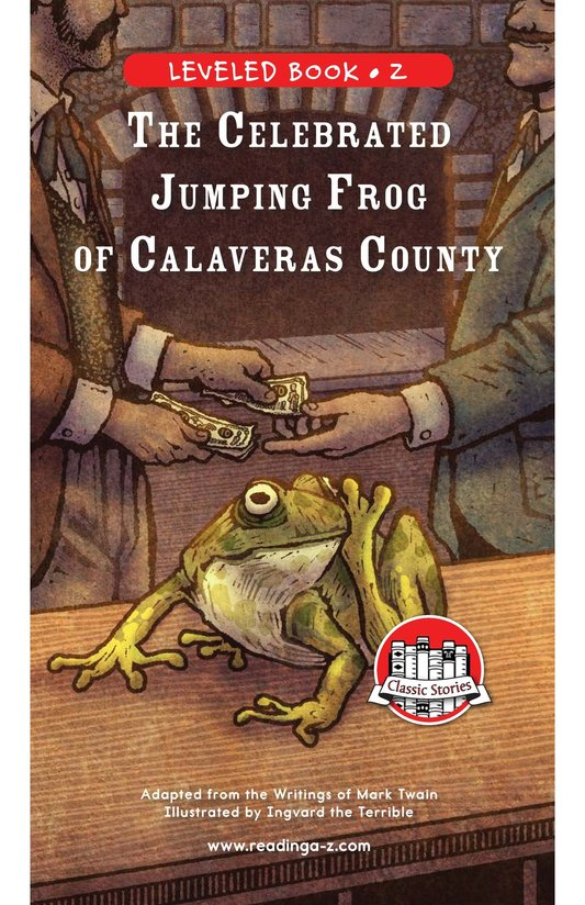Book Preview For The Celebrated Jumping Frog of Calaveras County Page 0