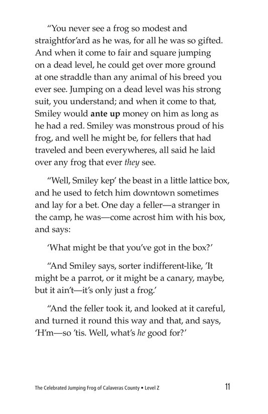 Book Preview For The Celebrated Jumping Frog of Calaveras County Page 11