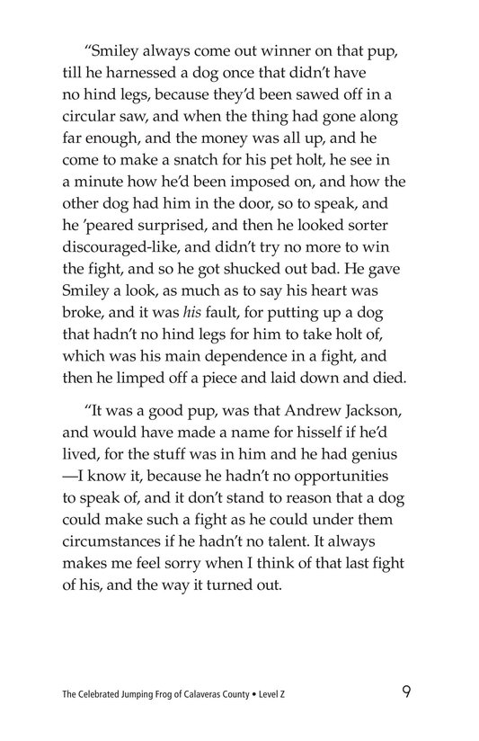 Book Preview For The Celebrated Jumping Frog of Calaveras County Page 9