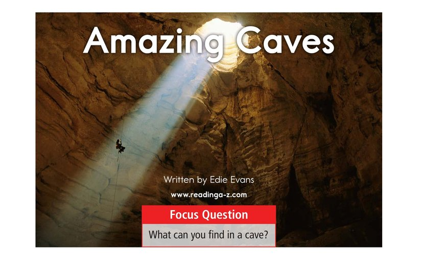 Book Preview For Amazing Caves Page 1