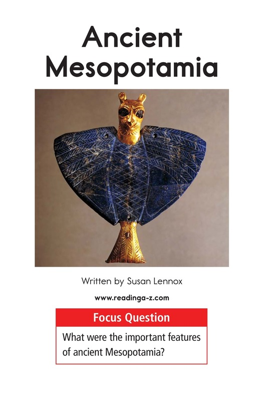 Book Preview For Ancient Mesopotamia Page 1
