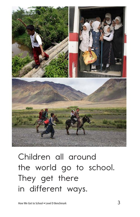 Book Preview For How We Get to School Page 3