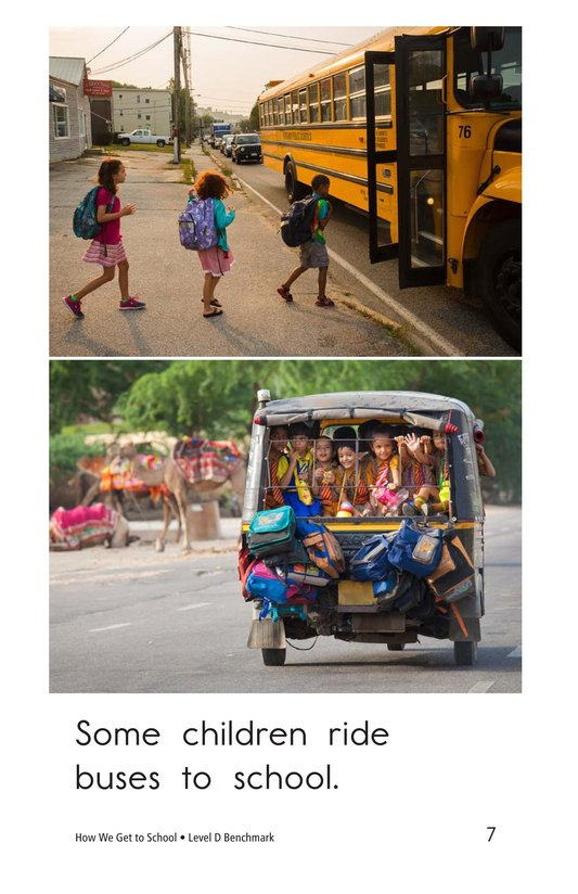 Book Preview For How We Get to School Page 7