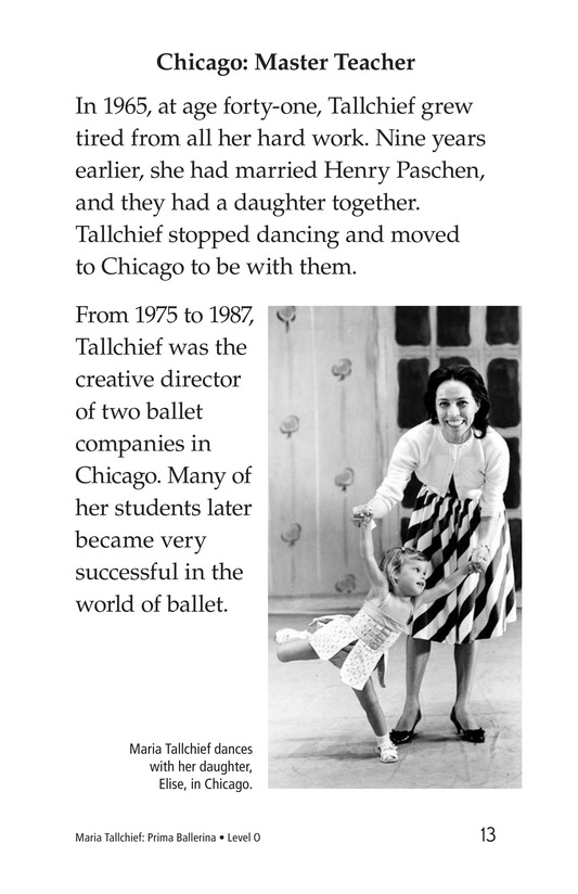 Book Preview For Maria Tallchief: Prima Ballerina Page 13
