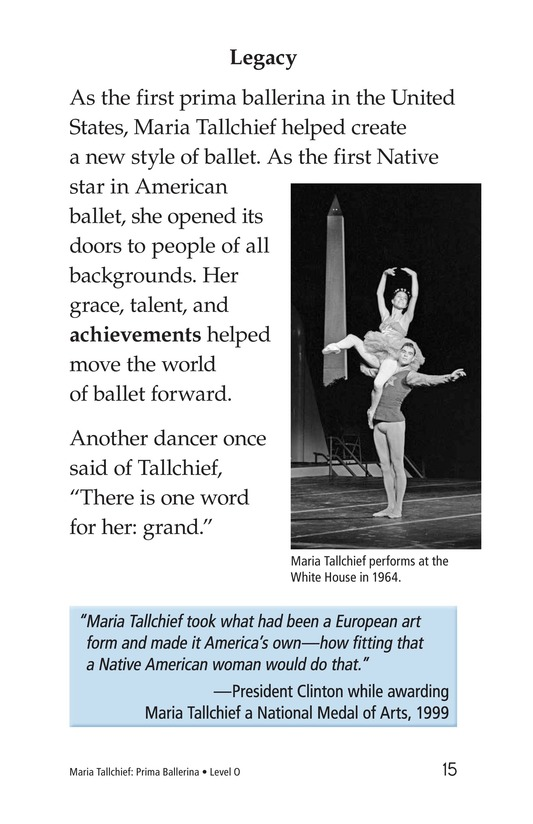 Book Preview For Maria Tallchief: Prima Ballerina Page 15