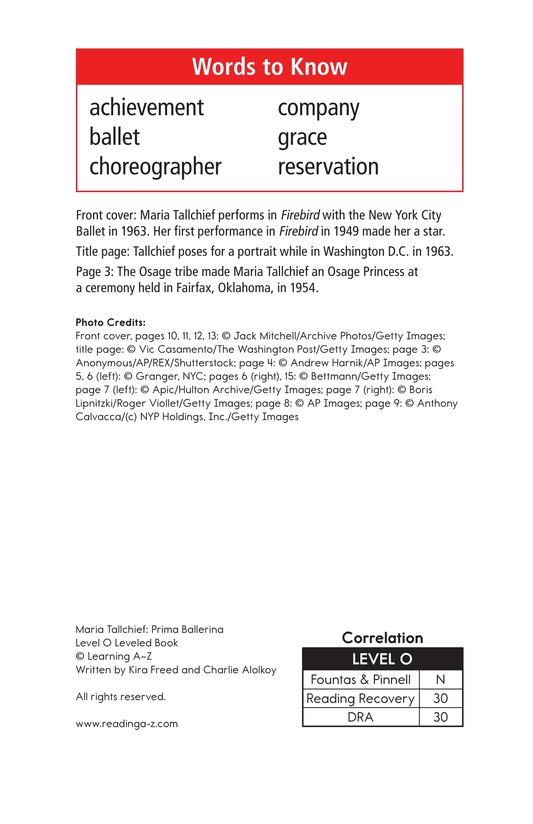Book Preview For Maria Tallchief: Prima Ballerina Page 2