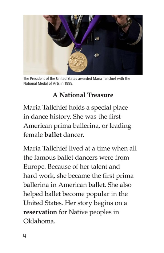 Book Preview For Maria Tallchief: Prima Ballerina Page 4