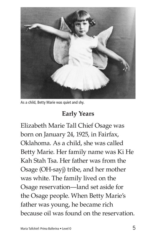 Book Preview For Maria Tallchief: Prima Ballerina Page 5
