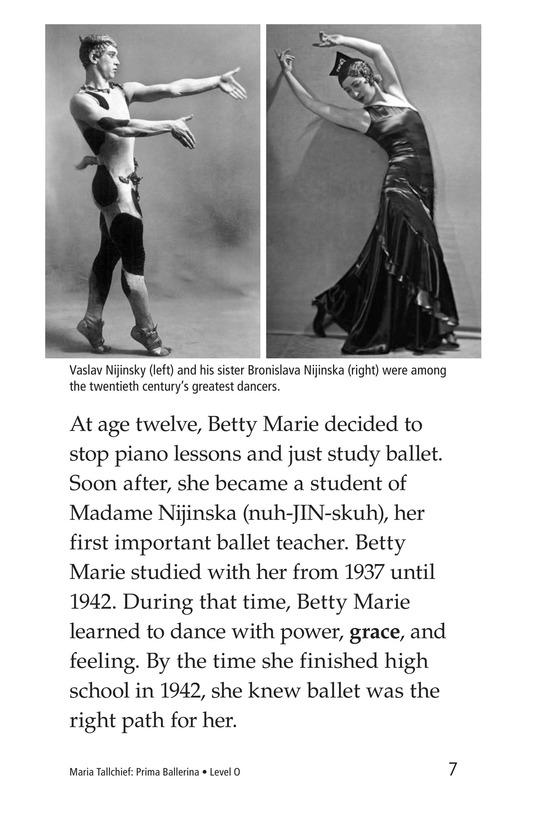 Book Preview For Maria Tallchief: Prima Ballerina Page 7