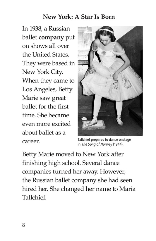 Book Preview For Maria Tallchief: Prima Ballerina Page 8