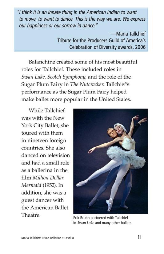 Book Preview For Maria Tallchief: Prima Ballerina Page 11