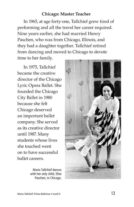 Book Preview For Maria Tallchief: Prima Ballerina Page 13