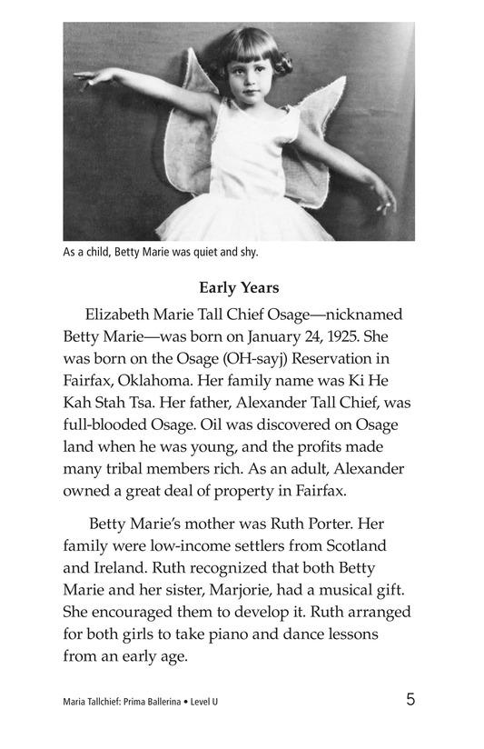 Book Preview For Maria Tallchief: Prima Ballerina Page 5