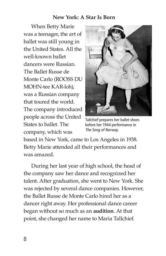 Book Preview For Maria Tallchief: Prima Ballerina Page 8