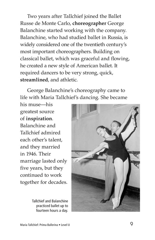 Book Preview For Maria Tallchief: Prima Ballerina Page 9