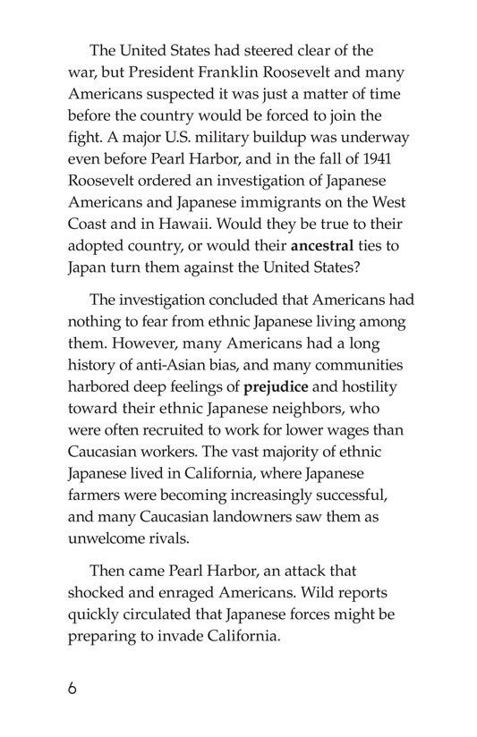 Book Preview For Japanese American Incarceration During World War II Page 6