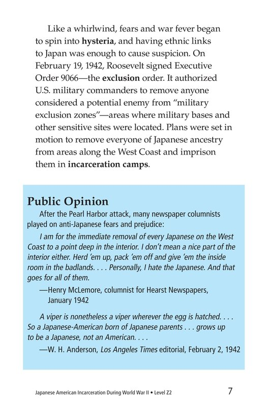 Book Preview For Japanese American Incarceration During World War II Page 7