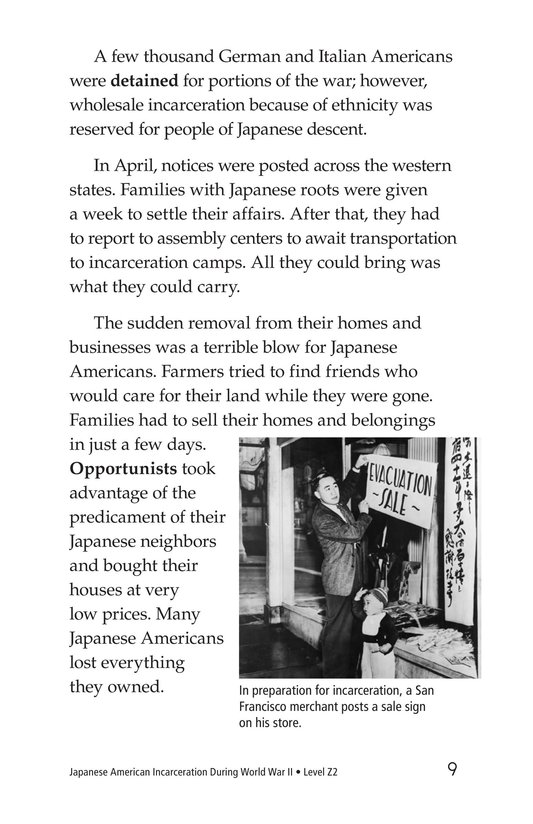 Book Preview For Japanese American Incarceration During World War II Page 9