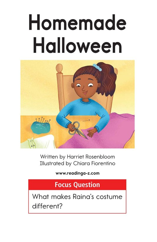 Book Preview For Homemade Halloween Page 1