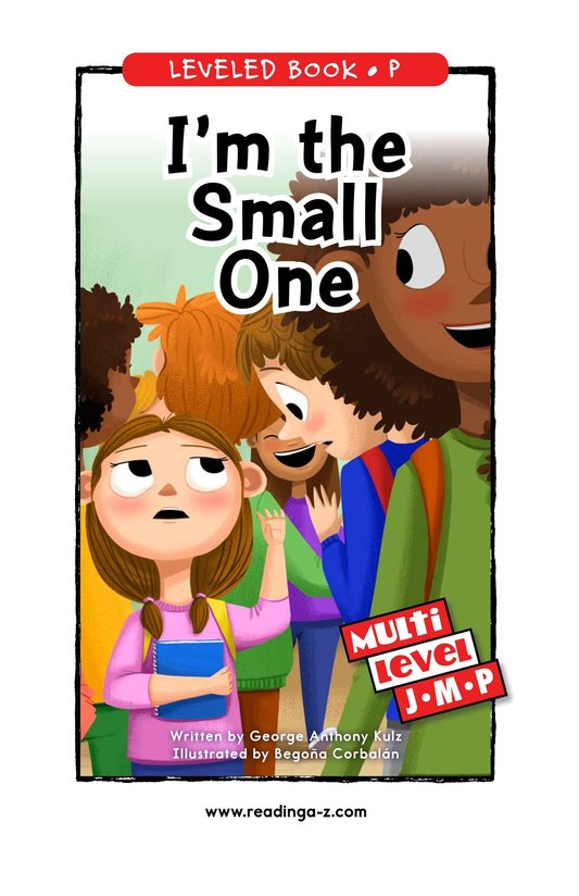 Book Preview For I'm the Small One Page 0