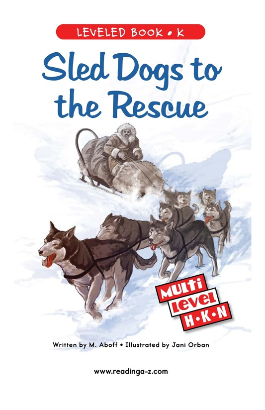 Book Preview For Sled Dogs to the Rescue Page 0