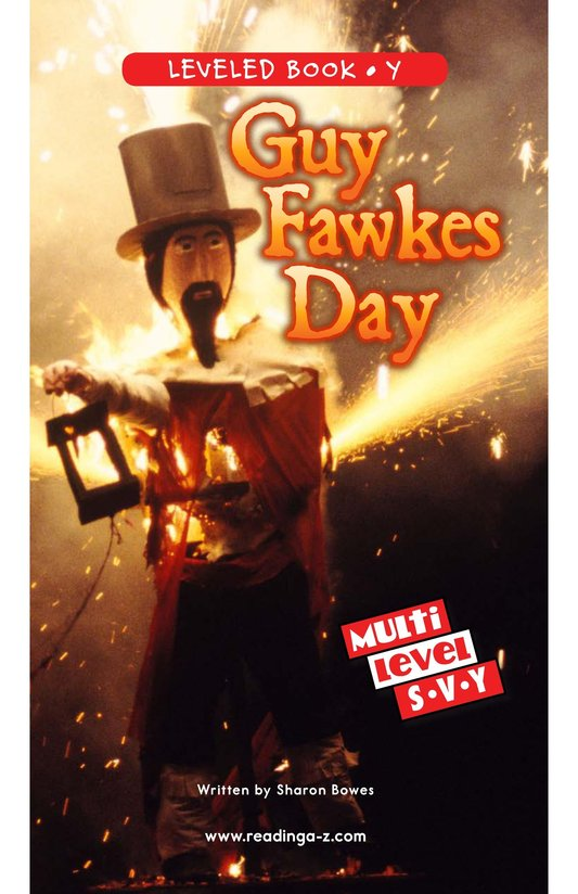 Book Preview For Guy Fawkes Day Page 0