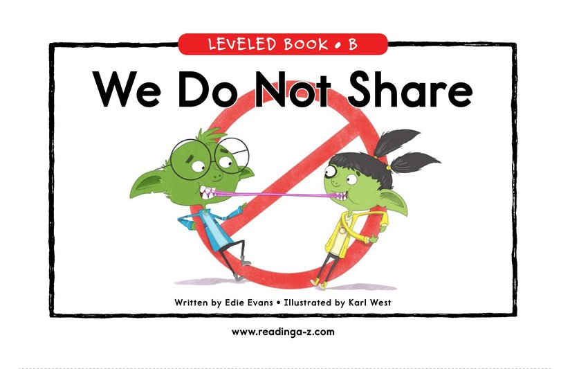 Book Preview For We Do Not Share Page 0