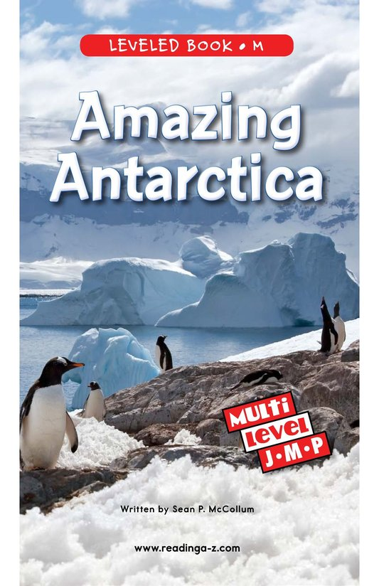 Book Preview For Amazing Antarctica Page 0