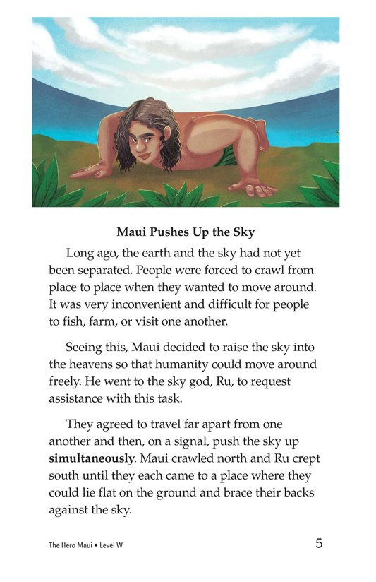 Book Preview For The Hero Maui Page 5