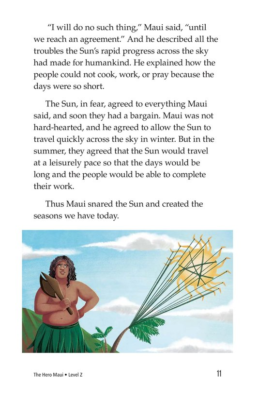 Book Preview For The Hero Maui Page 11