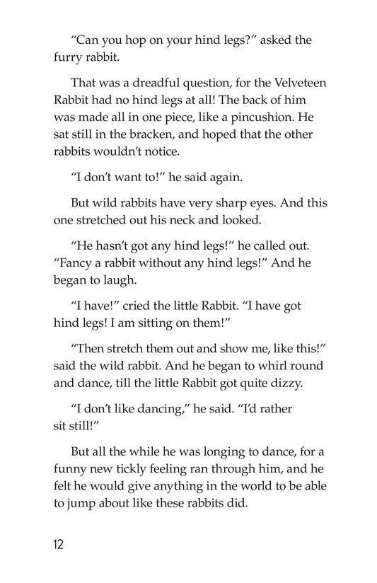Book Preview For The Velveteen Rabbit Page 12