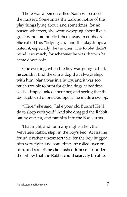 Book Preview For The Velveteen Rabbit Page 7