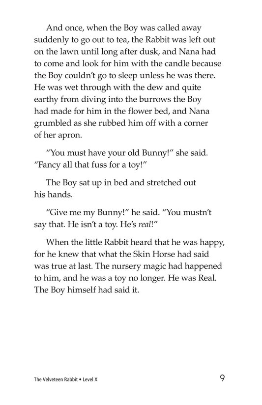 Book Preview For The Velveteen Rabbit Page 9