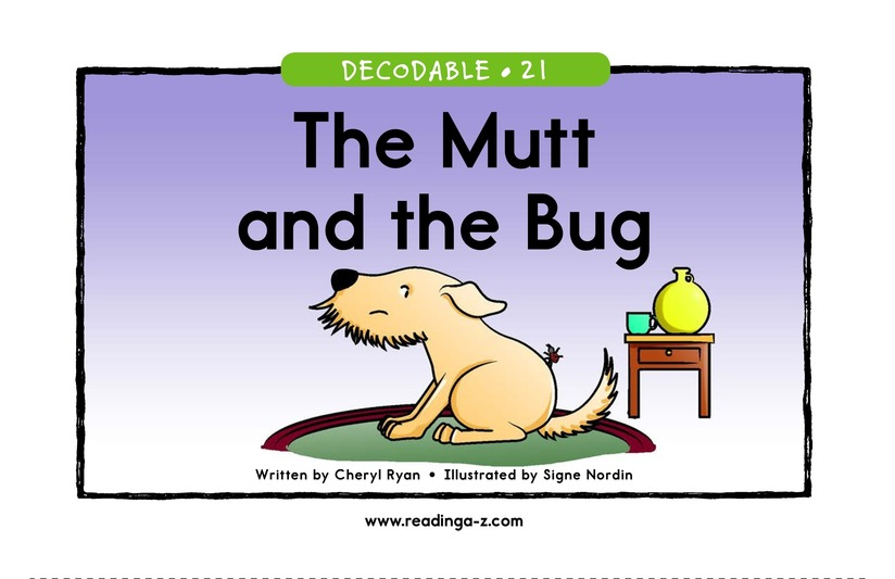 Book Preview For The Mutt and the Bug Page 1