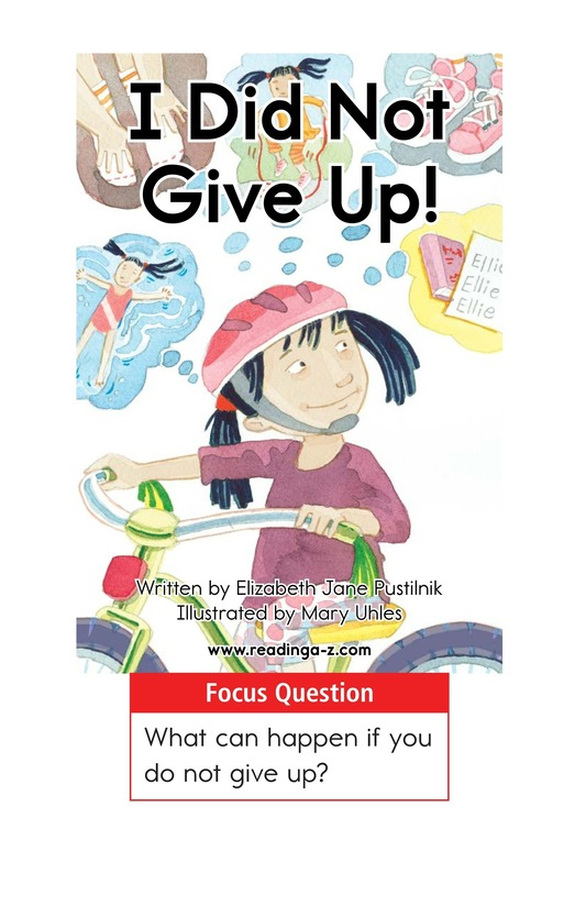 Book Preview For I Did Not Give Up! Page 1